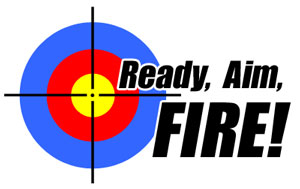 Ready, Aim, Fire! logo